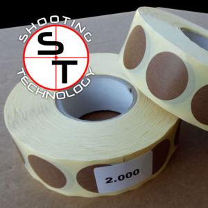 Stickers Ø 25mm in opaque havana colored paper