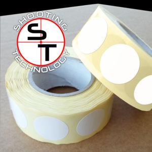 White stickers Ø 25 mm