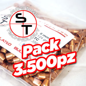 Copper plated bullet 9mm TC 124 gr Promo Pack