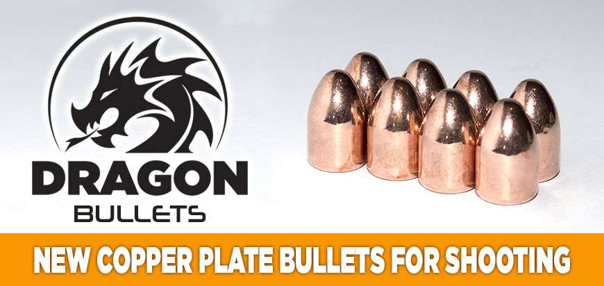 NEW COPPER PLATE BULLETS FOR ammunition reloading
