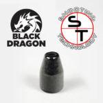 9 mm caliber HPTC Black Dragon Copper Plate Bullet