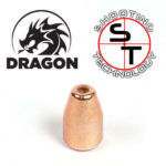 9 mm caliber HPTC Dragon Copper Plate Bullet