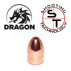 Dragon Copper Plate Bullet 9 mm caliber RN