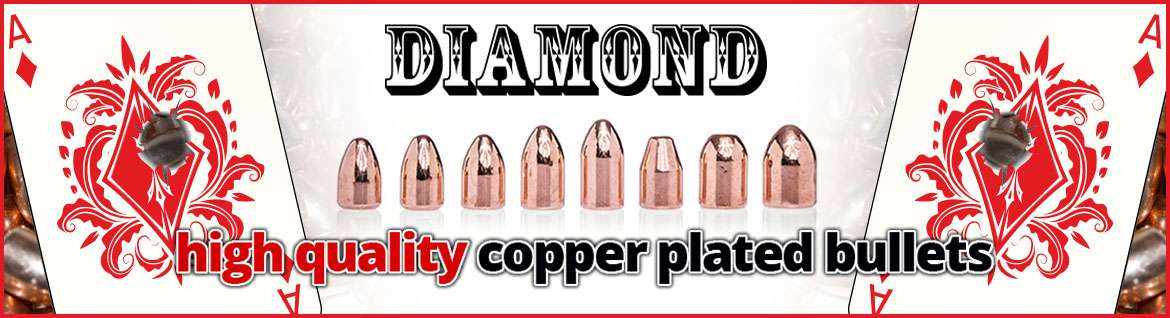 Diamond copper plate bullet