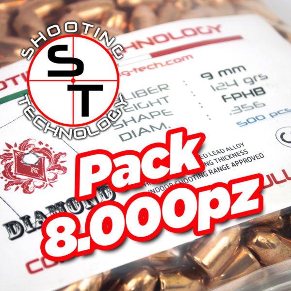 Diamond bullet Flat point Hollow Base 124 8000pcs