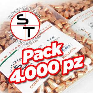 Palle ramate ad alta precisione 9mm 115 gr TC Promo 4000