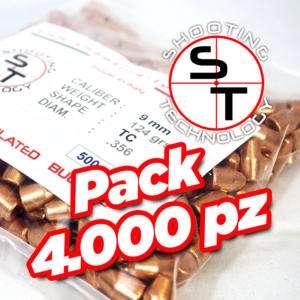 Palle ramate ad alta precisione 9mm TC 124 grani promo 4000