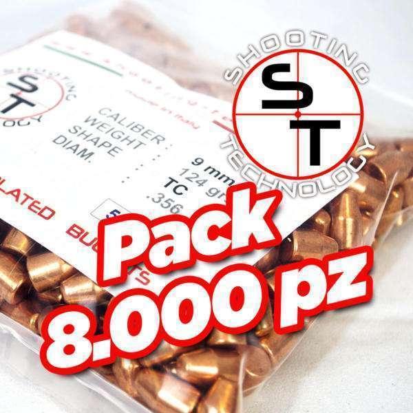 Palle ramate ad alta precisione 9mm TC 124 grani promo 8000